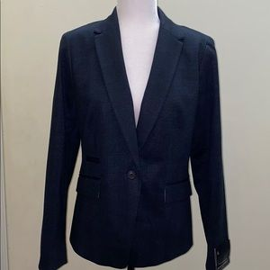 New Banana Republic blue plaid blazer jacket